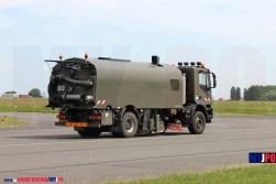 The French Armée de l'air Iveco Trakker 330 Taxiway Vacuum Sweeper truck (Aspiratrice), NATO Tiger Meet, Cambrai Air Force Base, 05/2011.