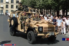 French Army Panhard VPS of the Commando Parachutiste de l'Air n°10 (CPA10), Esplanade des Invalides, Paris, 14 juillet 2009.