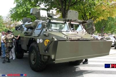 French Army VBR (Véhicule Blindé de Reconnaissance) of the 25e Régiment du Génie de l'Air (25e RGA), Place de la Nation, Paris, July 14, 2009.