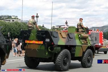 French Army VAB of the 3e Régiment de Parachutistes d'Infanterie de Marine, Esplanade des Invalides, Paris, July 14, 2009.