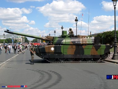 French Army Leclerc MBT of the 503e Régiment de Chars de Combat (503e RCC), Esplanade des Invalides, Paris, July 14, 2008.