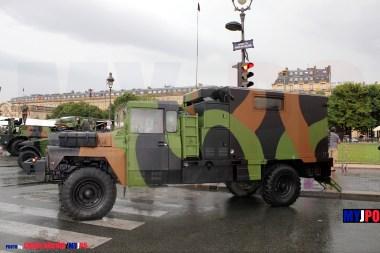 French Army Acmat VLRA TPK 4.36 SH SMT (Station Mobile Topographique) of the 28e Groupe Géographique (28e GG), Esplanades des Invalides, Paris, July 14, 2010.