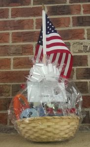 Gift basket with a flag