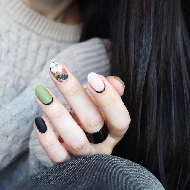 Зеленый маникюр - 31