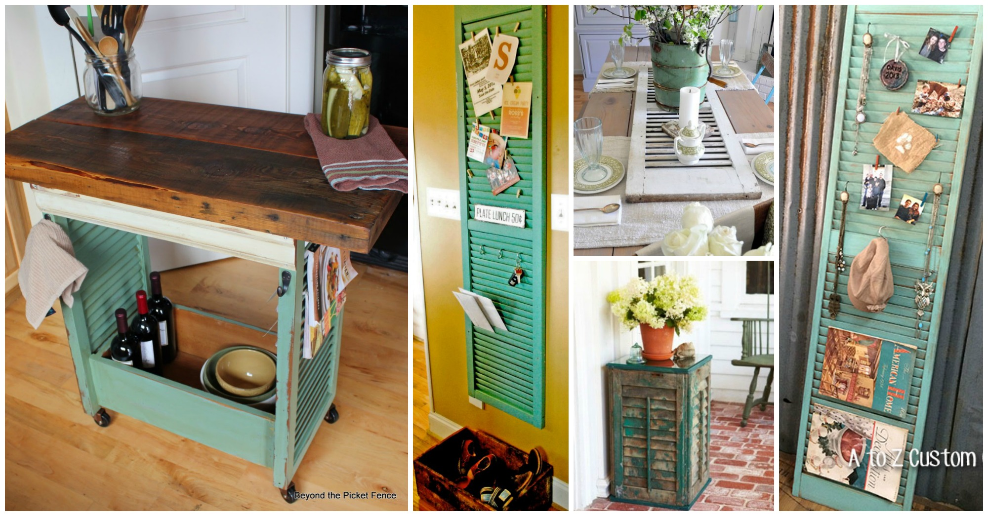 15 Awesome Ways To Repurpose Old Shutters