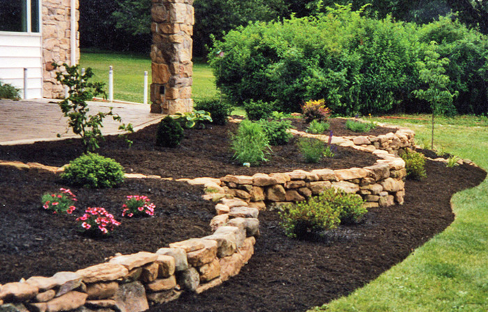 landscaping with mulch