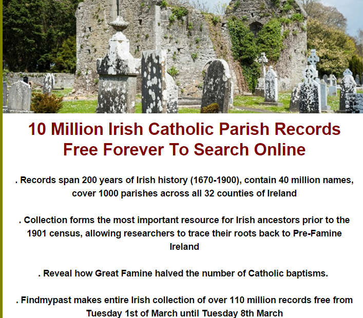 mka blog FMP Catholic Records Free 1st Mar