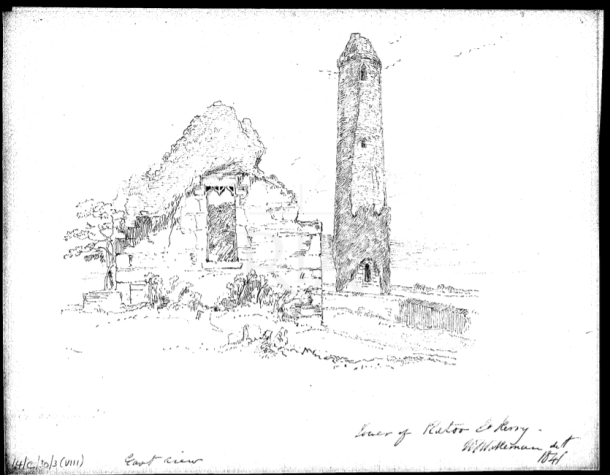 Rattoo Round Tower 1840 Drawing