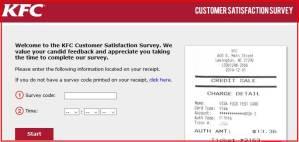 KFC Surveys on the Go Promo Code