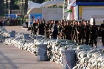 El ejército ha acordonado la zona - The army has closed the area