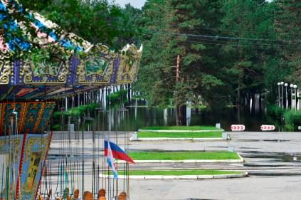 El parque está inundado - The park is flooded