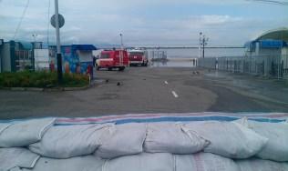 El embarcadero inundado - The pier flooded