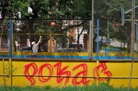 2012-08-12 - Khabarovsk - Jugando al Baloncesto