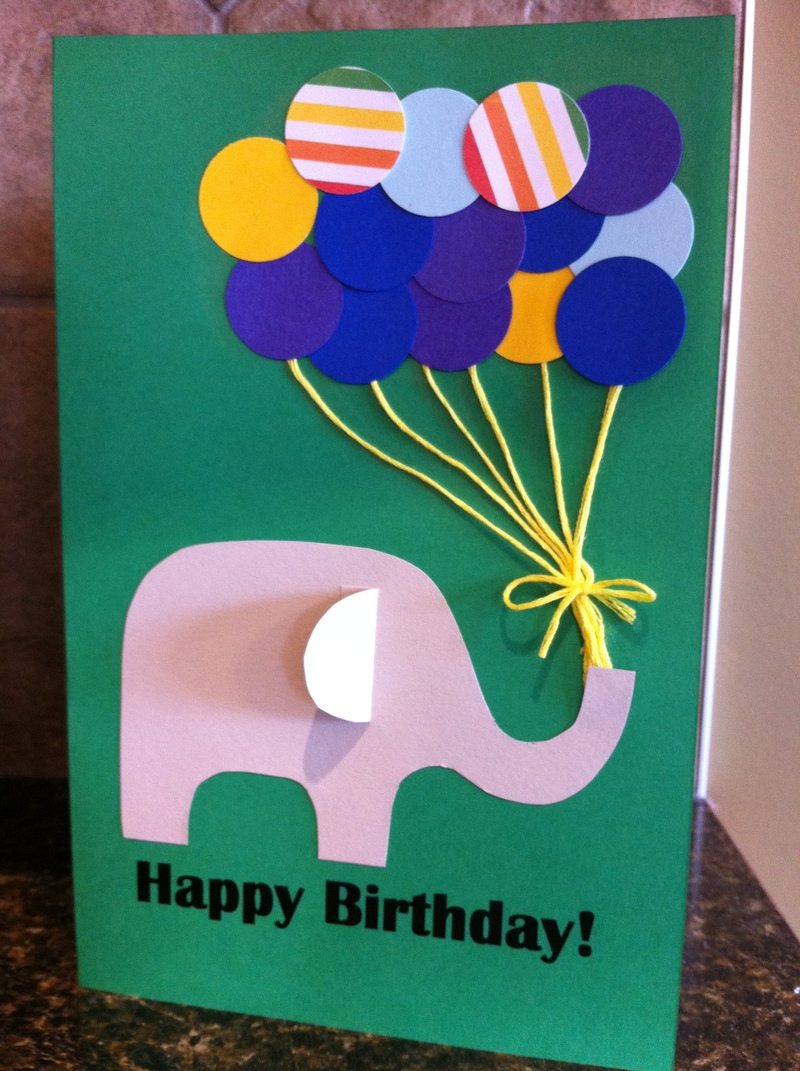 Paper Punch Balloon Birthday Card My Kid Craft