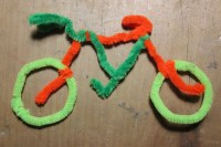 pipe cleaner craft, pipe cleaner bicycle, bicycle craft ...