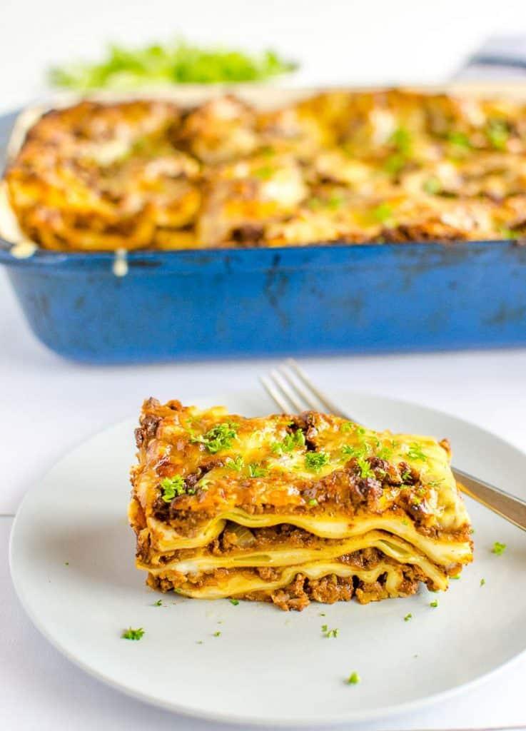 healthy vegetable lasagna