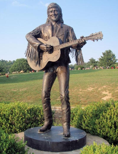 Statue of Keith in Eliot County Memory Garden, Kentucky