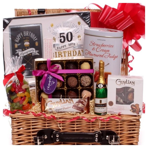 50th Birthday Gift Basket Ideas