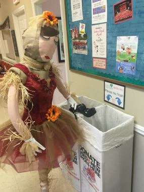 Even Scarecrows can donate to Shoeman Water Projects
