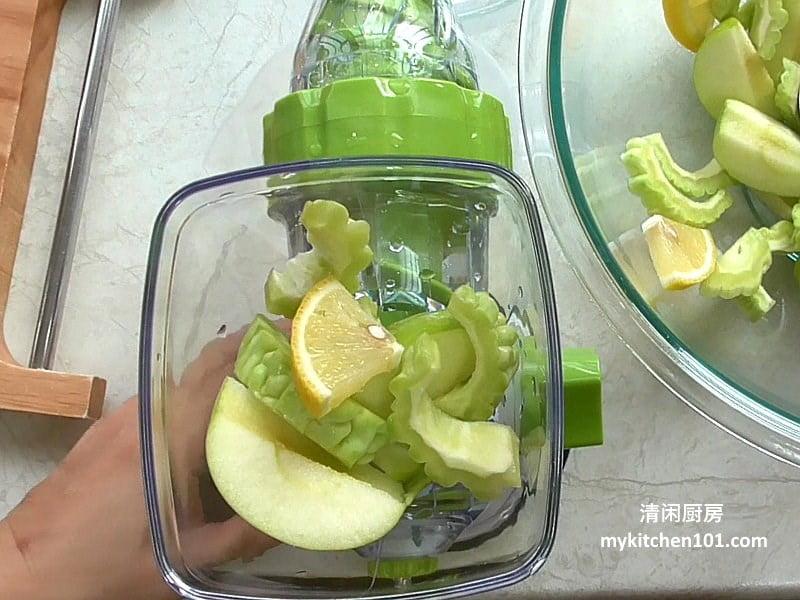 小苦瓜青苹果汁