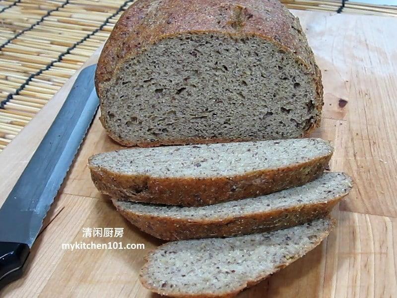 低碳亚麻籽土司面包-面包机食谱