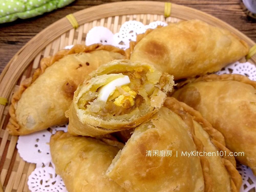马铃薯鸡肉咖喱角食谱