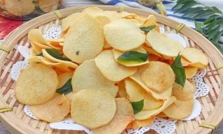 Crispy Arrowhead Root Chips