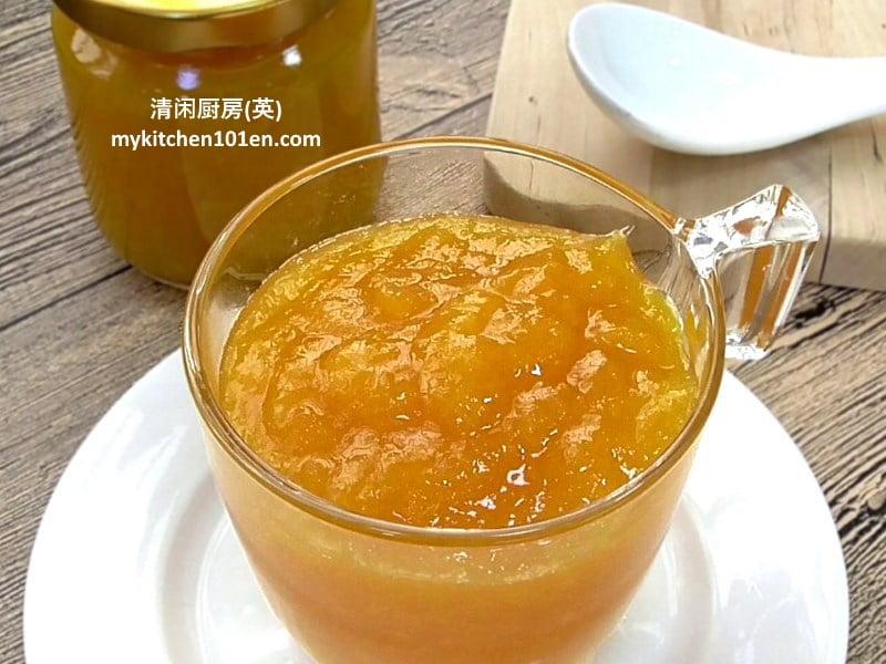 Homemade orange jam spread