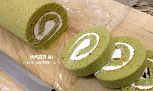 Matcha (Japanese Green Tea) Swiss Roll Cake