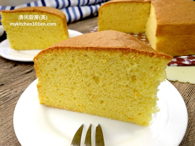 Orange Sponge Cake no artificial flavor
