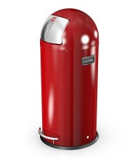 Hailo Kickmaxx 38 Litre Push Top Kitchen Bin - Red - My ...
