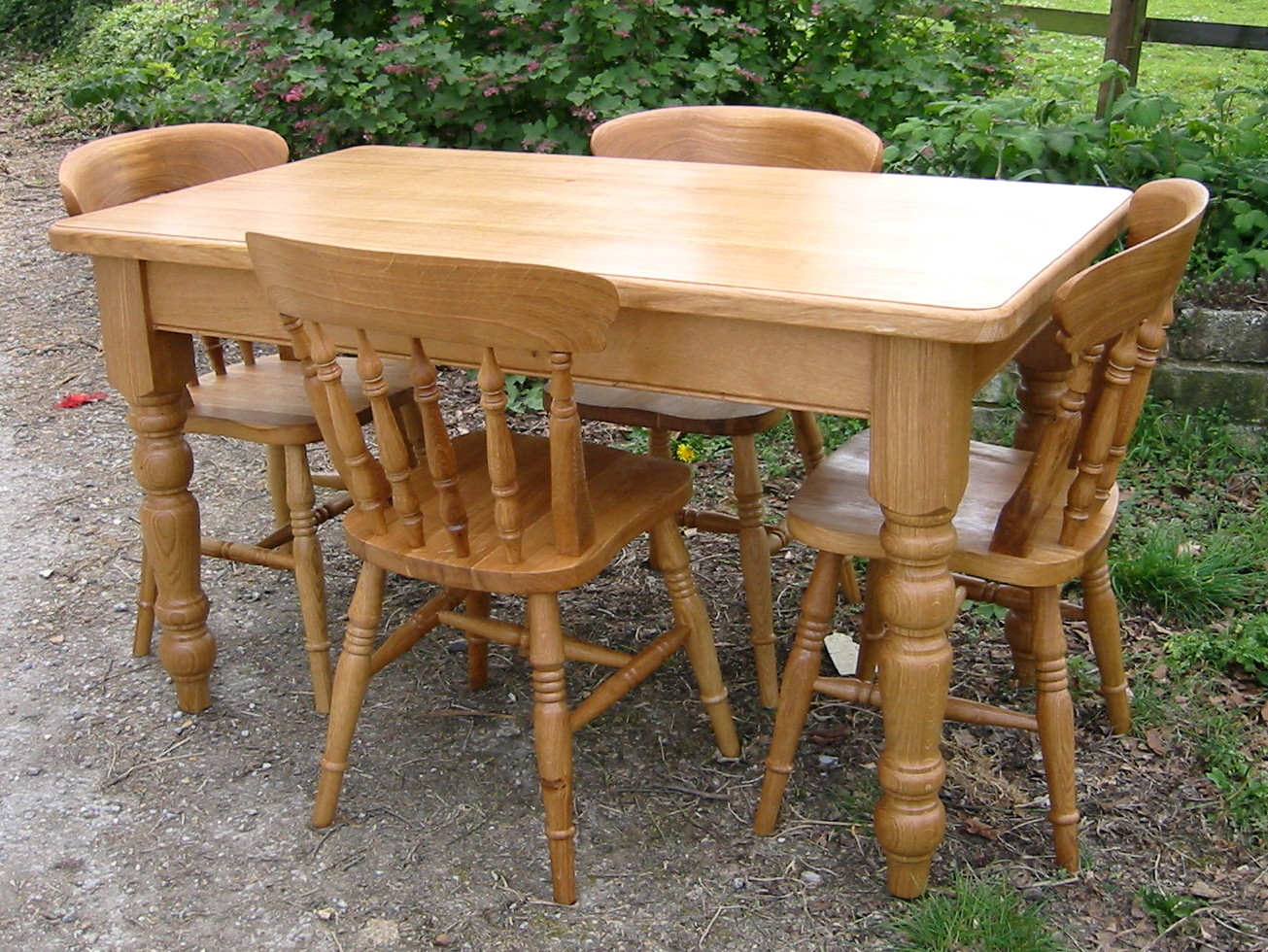 Farmhouse Table And Chairs Set Have The Farm Kitchen Table For Your Home My Kitchen