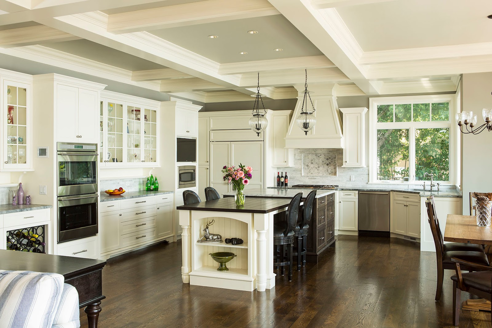 Open Kitchen Design Ideas With Living And Dining Room