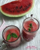Basil leaves-Watermelon Cooler