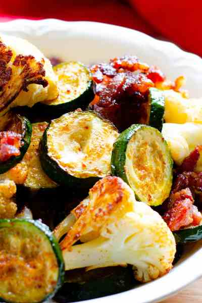 Smokey Bacon Roasted Veggies