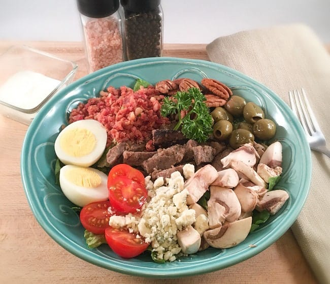 steak and blue cheese salad bowl mykitchenserenity