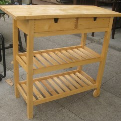Butcher Block Kitchen Island Cart Aid Artisan Mixer Ideas