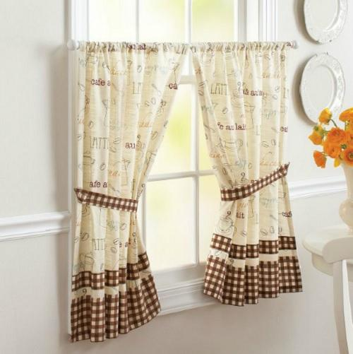 Marvelous Coffee Curtains For Kitchen Photo 12
