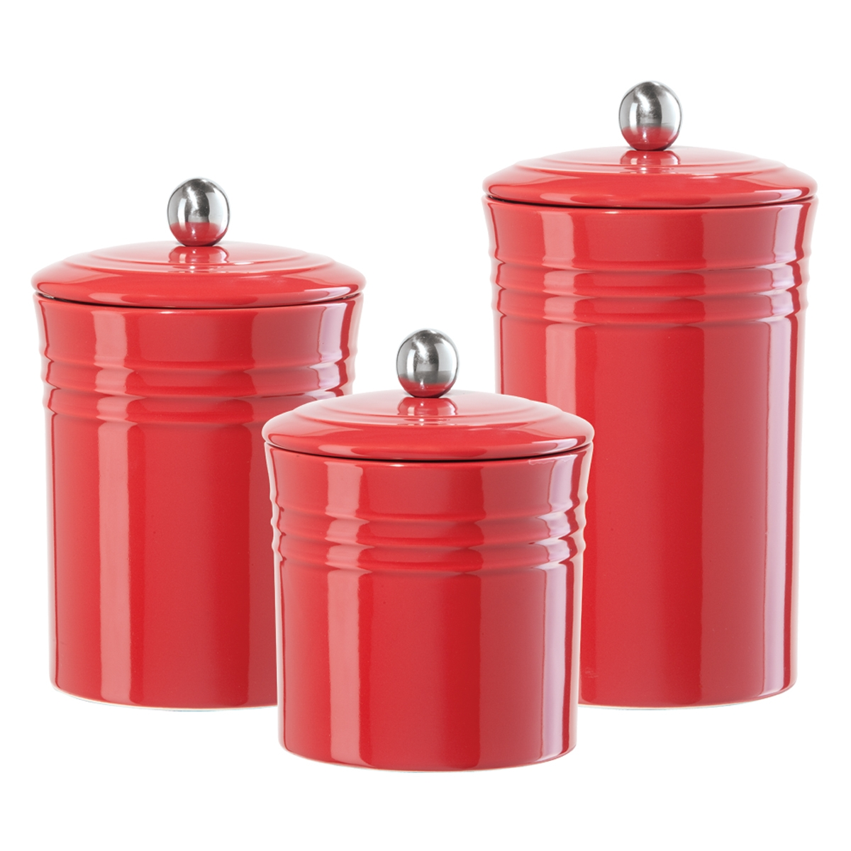 decorative kitchen canisters sets bench with storage red black