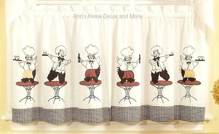 red retro kitchen chairs white table and fat chef curtains | ideas