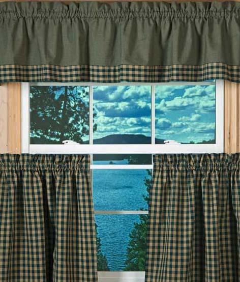 Hunter Green Kitchen Curtains Photo 3 Kitchen Ideas