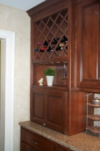 Kitchen cabinet wine rack