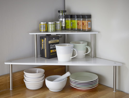 Kitchen counter corner shelf Photo  9  Kitchen ideas