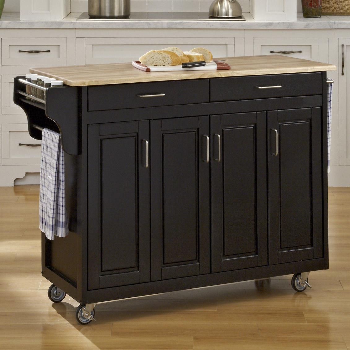kitchen island wheels free standing sink unit carts on john boos endgrain butcher block