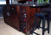 Kitchen island wine rack Photo - 3 | Kitchen ideas