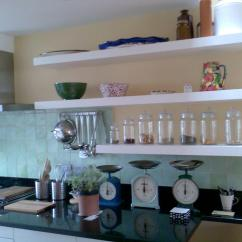 Kitchen Wall Shelf Distressed Island Butcher Block Shelves Mounted Ideas