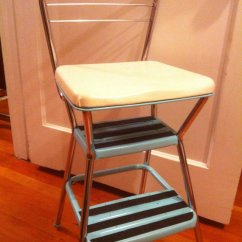 Kitchen Step Stool With Seat Tin Backsplash | Ideas