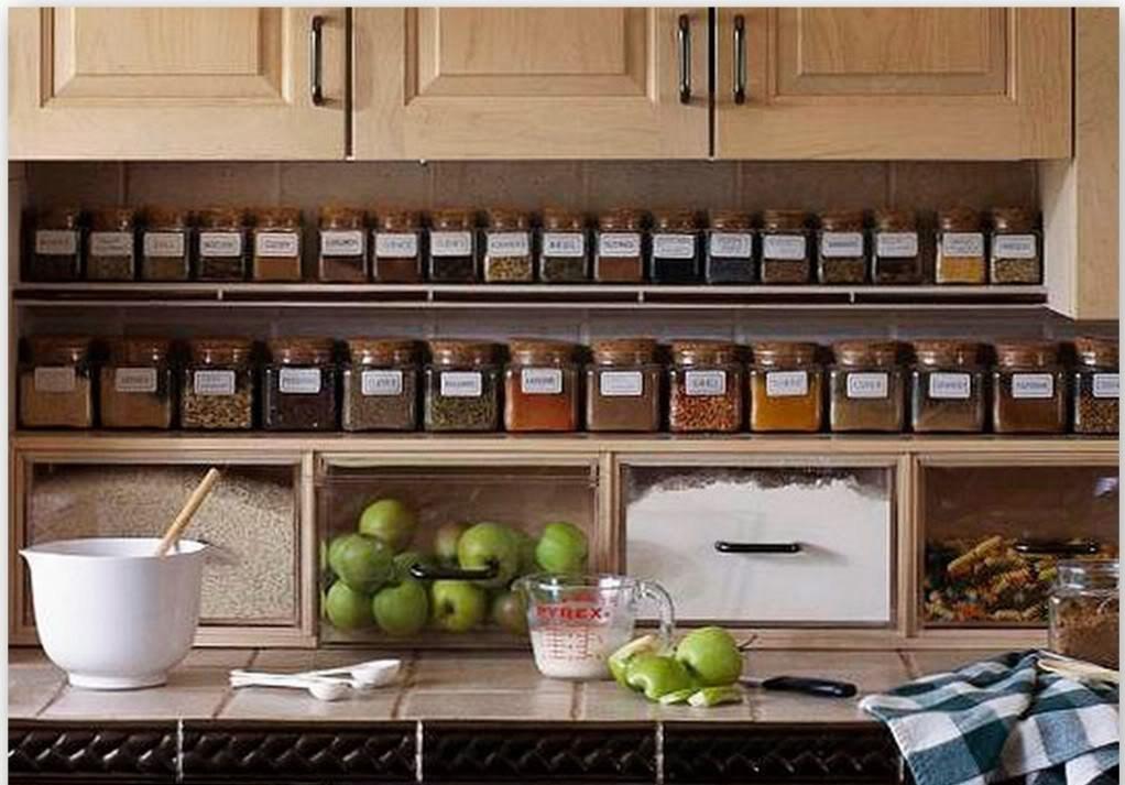 Kitchen under cabinet storage