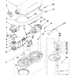 Kitchenaid Mixer Wiring Diagram Led Toggle Switch Simple Blender Alternator Diagrams