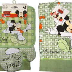 Red Retro Kitchen Table And Chairs Steel Chair Properties Mickey Mouse Towels | Ideas